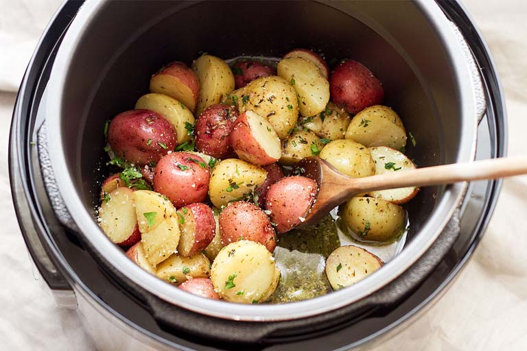 potatoes cooked using an instant pot