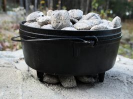 dutch oven with charcoals