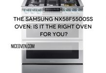 The Samsung NX58F5500SS Oven