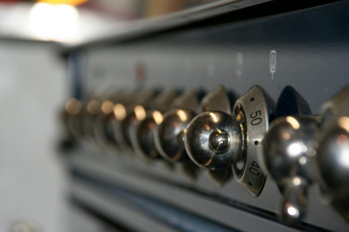 front panel of a 24 inch double wall oven