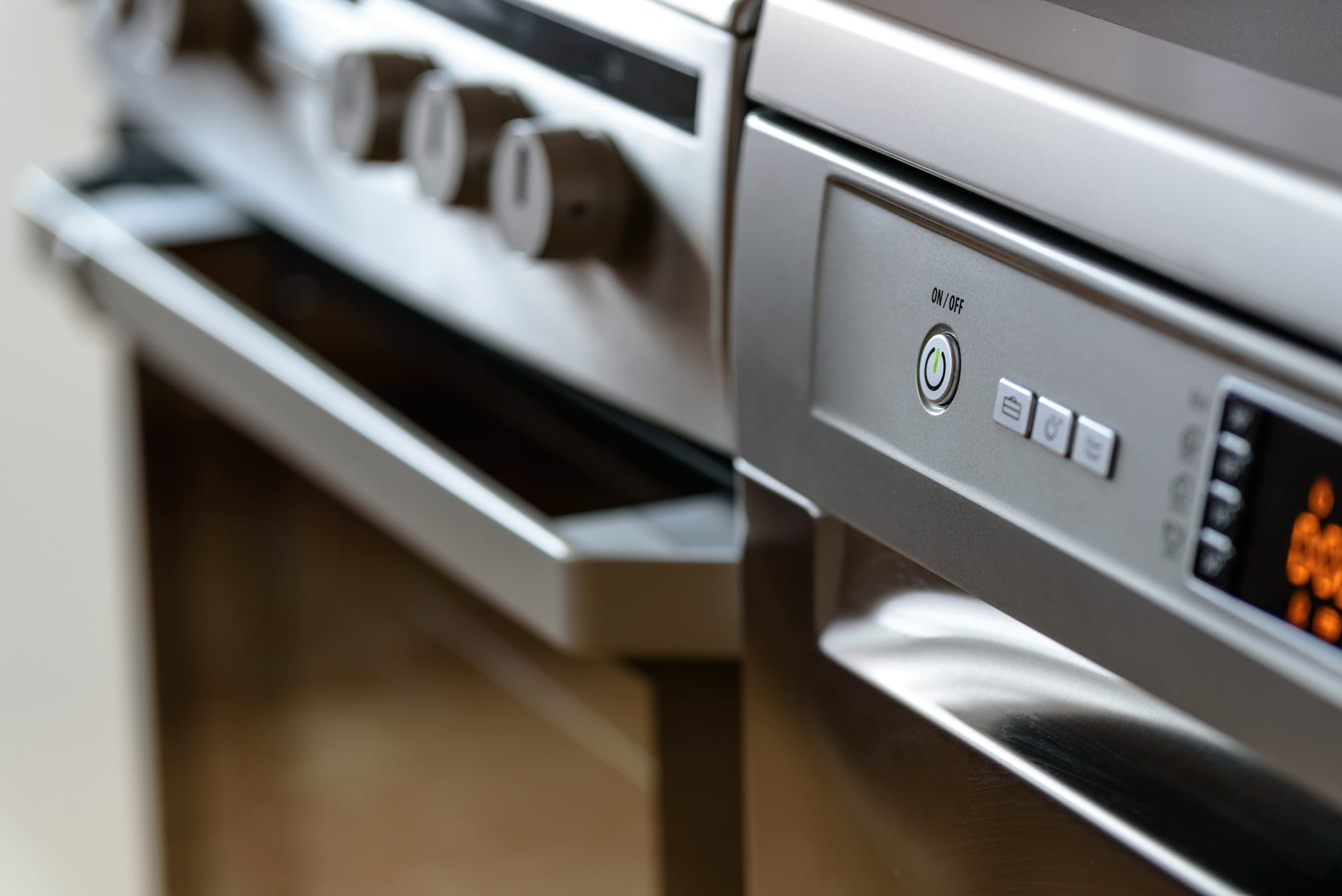 close up shot of oven